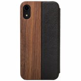 Apple iPhone XR Woodcessories EcoFlip Case - Walnut/Leather