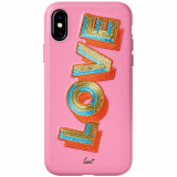 Apple iPhone Xs Max Laut Embroidery Series Case - Love