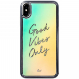 Apple iPhone Xs Max Laut Liquid Glitter Series Case - Good Vibes Only