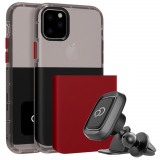 Apple iPhone 11 Pro Nimbus9 Ghost 2 Case - Pitch Black/Crimson