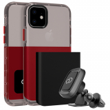 Apple iPhone 11 Nimbus9 Ghost 2 Case - Pitch Black/Crimson