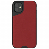 Apple iPhone 11 Mous Contour Series Case - Red Leather