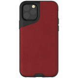 Apple iPhone 11 Pro Max Mous Contour Series Case - Red Leather