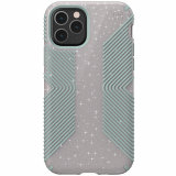 Apple iPhone 11 Pro Speck Presidio Grip+Glitter Series Case Whitestone Grey Glitter/Blue w/ Microban