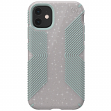 Apple iPhone 11 Speck Presidio Grip + Glitter Series Case w/ Microban - Whitestone Grey Glitter/Blue