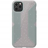 Apple iPhone 11 Pro Max Speck Presidio Grip+Glitter Series Case Whitestone Grey Glitter w/ Microban