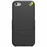 Apple iPhone 5/5s/SE PureGear Hip Case and Clip Holster Snap On Shield Combo - Black