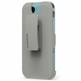 Apple iPhone 8/7 PureGear DualTek with Hip Clip Holster - Blue/Grey