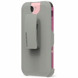 Apple iPhone 8/7 PureGear DualTek with Hip Clip Holster - Pink/Grey