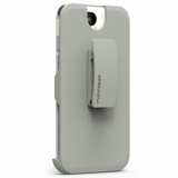 Apple iPhone 8/7 PureGear DualTek with Hip Clip Holster - White/Grey