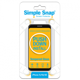 Apple iPhone 5/5s/SE Simple Snap Screen Protector - Tempered Glass