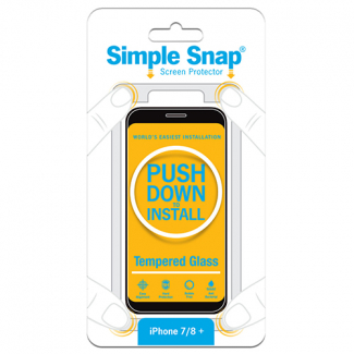 Apple iPhone 8 Plus/7 Plus Simple Snap Screen Protector - Tempered Glass