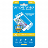 Apple iPhone 7 Simple Snap Edge-to-Edge Screen Protector - White Tempered Glass