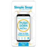 Apple iPhone 8/7 Simple Snap Edge-to-Edge Screen Protector - White Tempered Glass