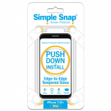 Apple iPhone 8 Plus/7 Plus Simple Snap Edge-to-Edge Screen Protector  White Tempered Glass