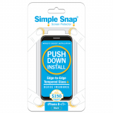 Apple iPhone 8 Plus Simple Snap Edge-to-Edge + Device Protection Screen Protector  Black