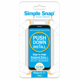 Apple iPhone 8 Plus Simple Snap Edge-to-Edge + Device Protection Screen Protector White