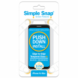 Apple iPhone Xs Max Simple Snap Edge-to-Edge + Device Protection Screen Protector  Black