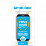 Apple iPhone XR Simple Snap Edge-to-Edge + Device Protection Screen Protector - Black