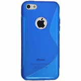 Apple iPhone 5C Cutout TPU Shield - Blue