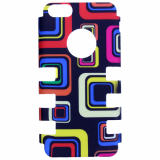 Apple iPhone 5c Rocker Series Snap - Black/Multi-Colored Squares