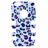 Apple iPhone 5c Rocker Series Snap - White/Multi-Colored Leopard