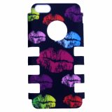 Apple iPhone 5c Rocker Series Snap - Black/Multi-Colored Lips