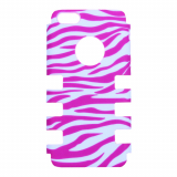 Apple iPhone 5c Rocker Series Snap - White/Pink Zebra
