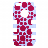 Apple iPhone 5c Rocker Series Snap - White/Red Circles