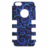 Apple iPhone 5c Rocker Series Snap - Black/Blue Swirls