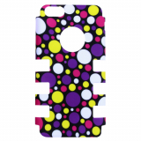 Apple iPhone 5c Rocker Series Snap - Black/Multi-Colored Bubbles