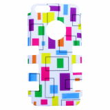 Apple iPhone 5c Rocker Series Snap - White/Multi-Colored Rectangles