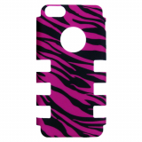 Apple iPhone 5c Rocker Series Snap - Black/Pink Zebra