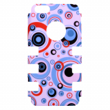 Apple iPhone 5c Rocker Series Snap - Pink/Multi-Colored Circles