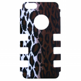 Apple iPhone 5c Rocker Series Snap - White/Black/Brown Leopard