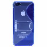Apple iPhone 5/5s/SE TekYa TPU Shield With Kickstand - Blue/Clear