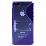 Apple iPhone 5/5s/SE TekYa TPU Shield With Kickstand - Purple/Clear