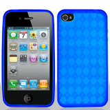 Apple iPhone 4/4s TPU Shield - Blue