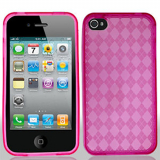 Apple iPhone 4/4s TPU Shield - Hot Pink