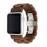 **NEW**Apple Watch Band 42/44 Woodcessories EcoStrap Series - Walnut/Silver