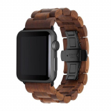 Apple Watch Band 42/44 Woodcessories EcoStrap Series - Walnut/Black