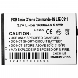 Casio G'Zone Commando 4G Standard Replacement Battery - 1600 mAh