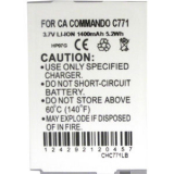 Casio C771/ G'zOne Commando 1400mAh Standard Replacement Battery