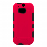HTC One 2/M8 Trident Aegis Series Case - Red/Black