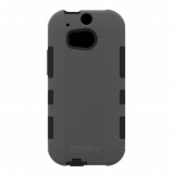 HTC One 2/M8 Trident Aegis Series Case - Gray/Black
