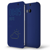 HTC One 2/M8 OEM DOT View Case - Blue
