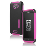 HTC One X Incipio Silicrylic Case - Black/Pink