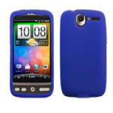 HTC Desire Silicone Shield - Blue
