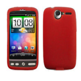 HTC Desire Silicone Shield - Red