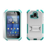 Kyocera Hydro Xtrm TriShield Case - White/Light Blue